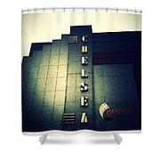 Chelsea Art Deco Blue Shower Curtain