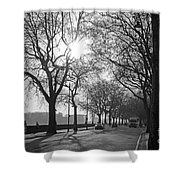 Chelsea Embankment London 2 Uk Shower Curtain