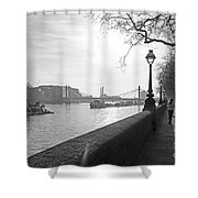 Chelsea Embankment London Uk 3 Shower Curtain