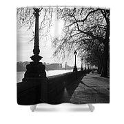 Chelsea Embankment London Uk 5 Shower Curtain