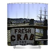 Chelsea Rose Crab Shower Curtain