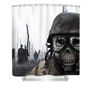Chemical Landscape Shower Curtain
