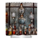 Chemist - The Apparatus Shower Curtain by Mike Savad