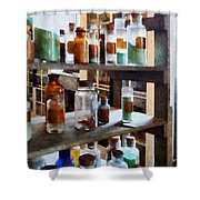 Chemistry - Bottles Of Chemicals Shower Curtain