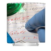 Chemistry Formulas In Science Research Lab Shower Curtain
