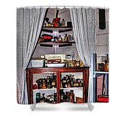 Chemist's Corner - Remedies And Potions Shower Curtain
