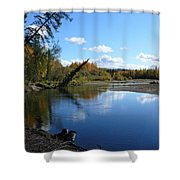 Chena River Shower Curtain