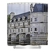Chenonceau And River Cher Shower Curtain