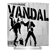 Chequebook Vandal Shower Curtain