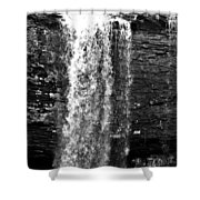 Cherokee Falls In Monochrome Shower Curtain