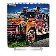 Cherokee Fire Truck Shower Curtain