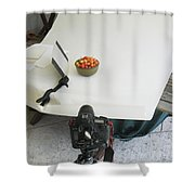 Cherries And Reflector Shower Curtain