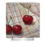 Cherry Talk By Irina Sztukowski Shower Curtain