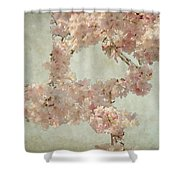 Cherry Blossom Bridal Bouquet Shower Curtain