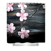 Cherry Blossom  Shower Curtain by Mark Moore