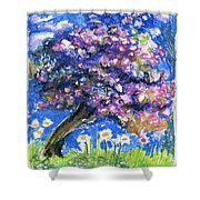 Cherry Blossom Spring. Shower Curtain