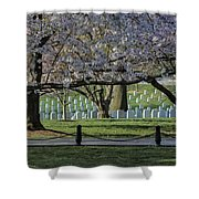 Cherry Blossoms Adorn Arlington National Cemetery Shower Curtain