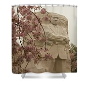 Cherry Blossoms At The Martin Luther King Jr Memorial Shower Curtain
