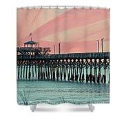 Cherry Grove Fishing Pier Shower Curtain