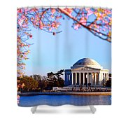 Cherry Jefferson Shower Curtain