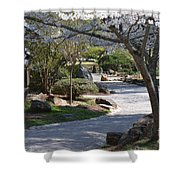 Cherry Lane Series  Picture C Shower Curtain