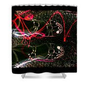 Cherry Neon Shoes Shower Curtain