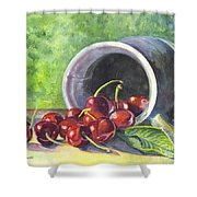 Cherry Pickins Shower Curtain