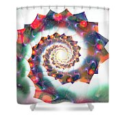 Cherry Swirl Shower Curtain by Anastasiya Malakhova