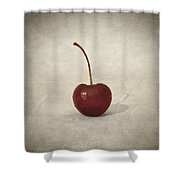 Cherry Shower Curtain by Taylan Apukovska