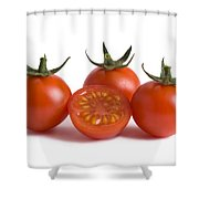 Cherry Tomatoes Cutout Shower Curtain