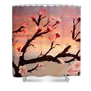 Cherry Tree Expresssive Brushstrokes Shower Curtain