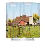Cherryvale Barn Boulder Shower Curtain