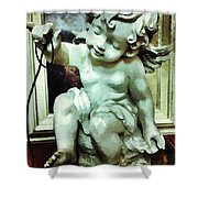 Cherub At Play Shower Curtain