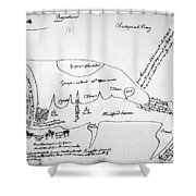 Chesapeake Bay, 1776 Shower Curtain