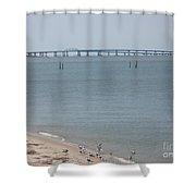 Chesapeake Bay Bridge - Tunnel Shower Curtain