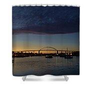 Chesapeake City Twilight Shower Curtain
