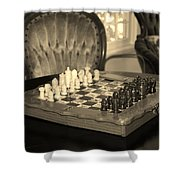 Chess Game Shower Curtain