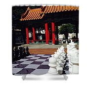 Chess In China Town Shower Curtain