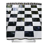 Chess In The Park Shower Curtain