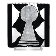 Chess Pawn Shower Curtain