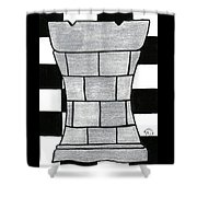 Chess Rook Shower Curtain