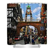Chester Eastgate Clock Shower Curtain