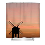 Chesterton Windmill Shower Curtain by Anne Gilbert