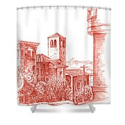 Chestnut Street In San Francisco  Shower Curtain