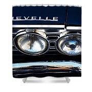 Chevelle Headlight Shower Curtain