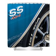 Chevelle Ss 454 Badge Shower Curtain