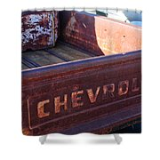 Chevrolet Apache 31 Pickup Truck Tail Gate Emblem Shower Curtain
