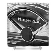 Chevrolet Belair Nomad Dashboard Emblem Shower Curtain