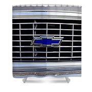 Chevrolet Blue Shower Curtain