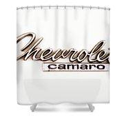 Chevrolet Camaro Emblem Shower Curtain